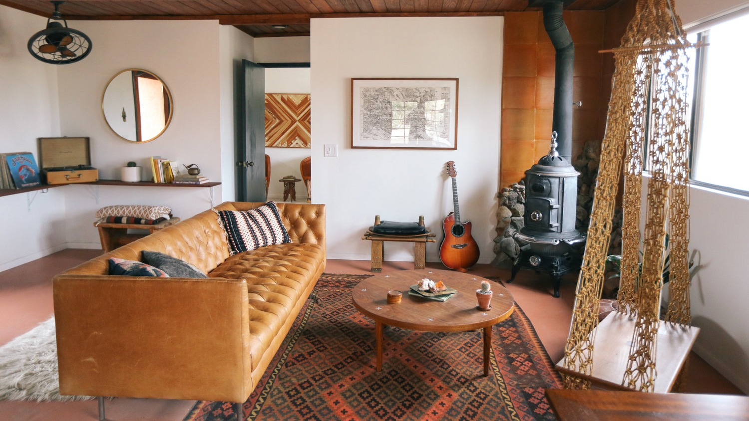 The Casita living room by The Joshua Tree House