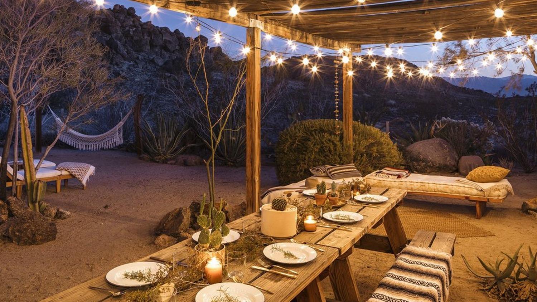 The Casita dinner scene